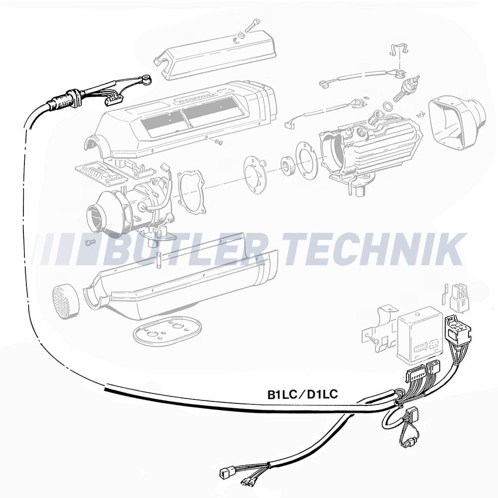 eberspacher d1lc heater harness