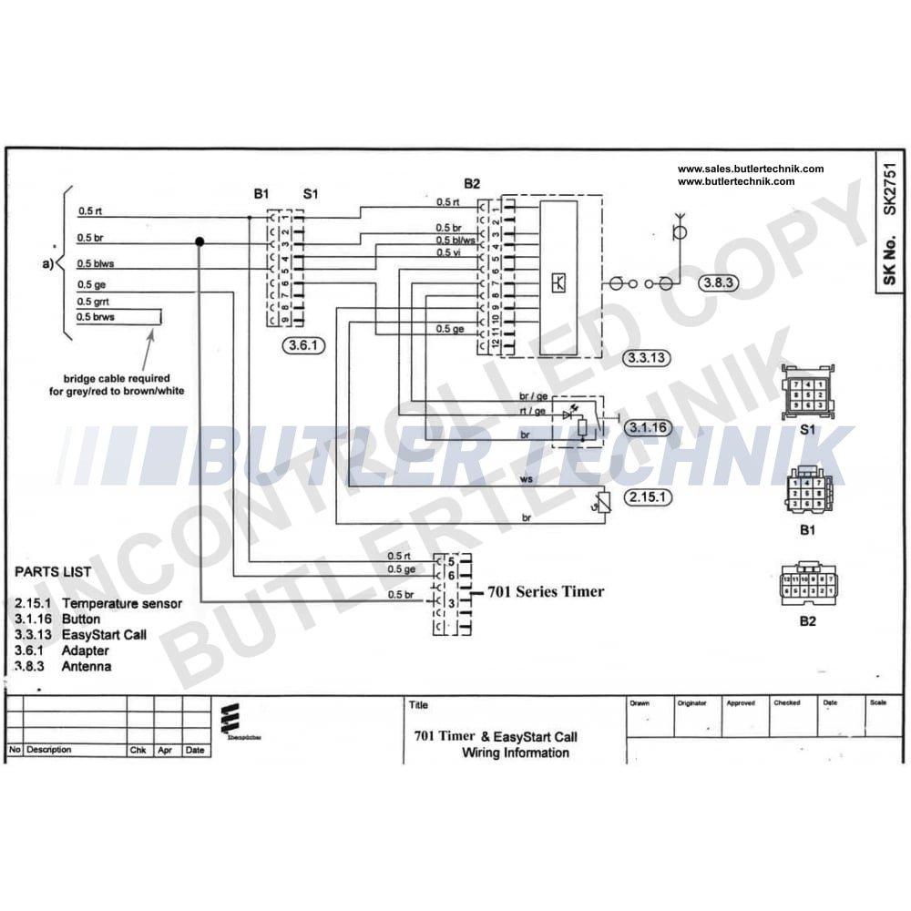 Eberspacher Eberspacher Easystart Call Mobile Telephone Remote 221000340100 P1406 on telephone line wiring diagram