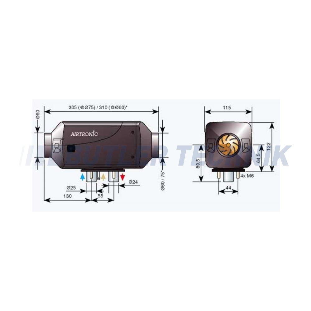 Eberspacher airtronic d2 24v схема