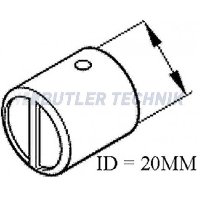 Eberspacher Heater Combustion Air Pipe End Cap | 251688801201