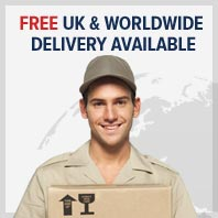 Free UK & Worldwide Delivery Available