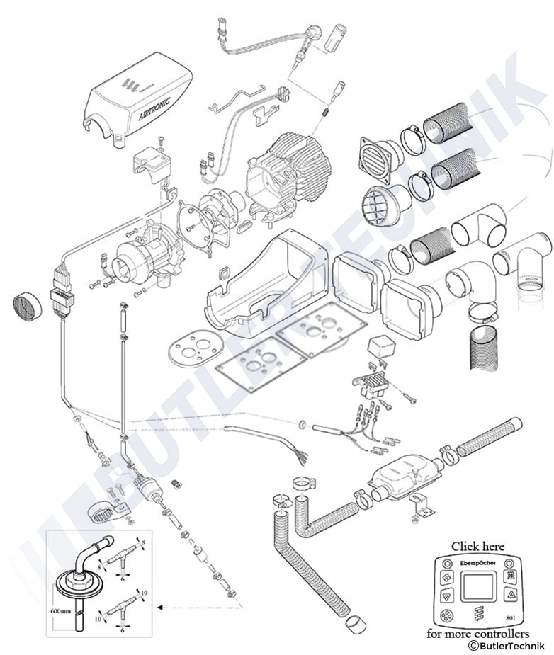 1467018980 60132200 eberspacher d2 airtronic air heater kits & repair parts airtronic d2 wiring diagram at soozxer.org