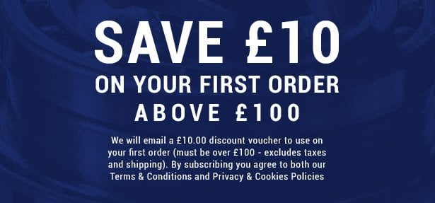 £10 off your first order over £100