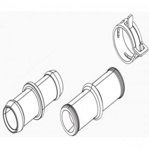 Webasto Thermo Pro 50 Eco Connection Pipe & Hose Clamp | 9024807A