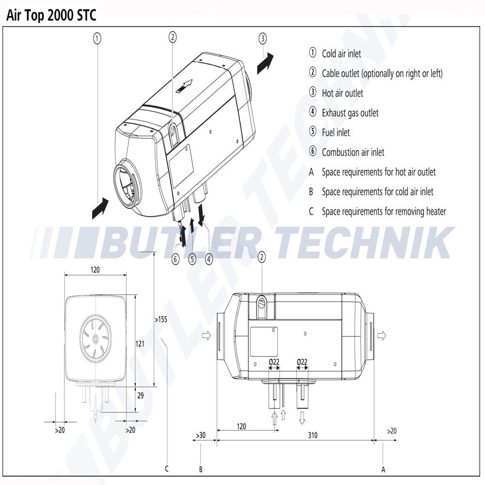 volkwagen webasto vw heater air top 2000 stc t5 external