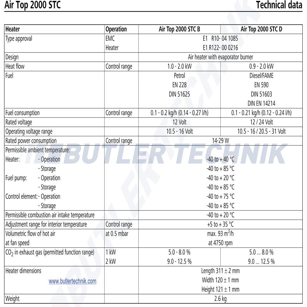 Webasto Marine Heater Air Top 2000 S Tc 12v Boat Heating
