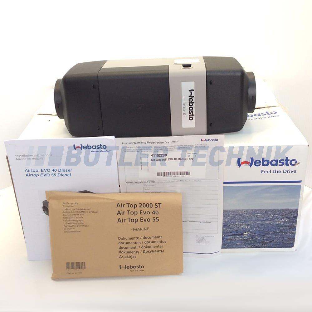 webasto air top evo40 12v marine boat heater kit 4110220a. Black Bedroom Furniture Sets. Home Design Ideas