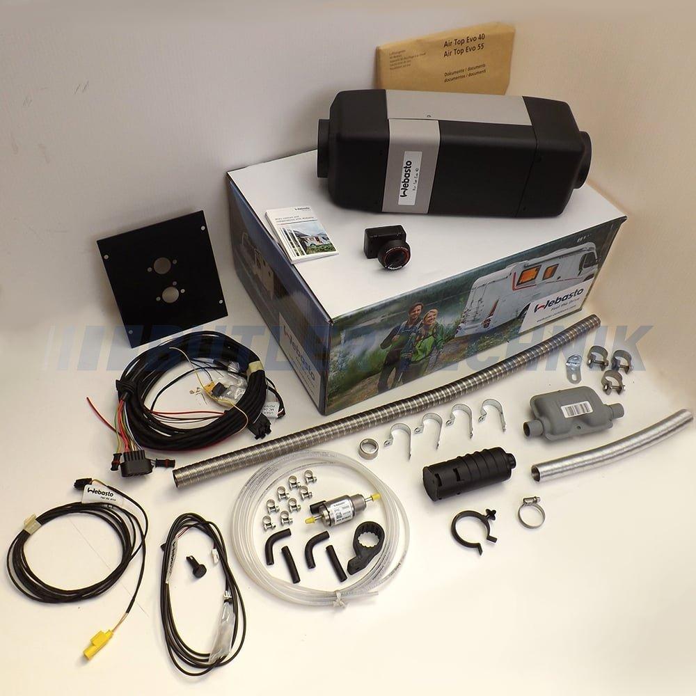 Webasto Airtop Evo 40 Rv Heater Kit Rotary Control 12v 9029235b