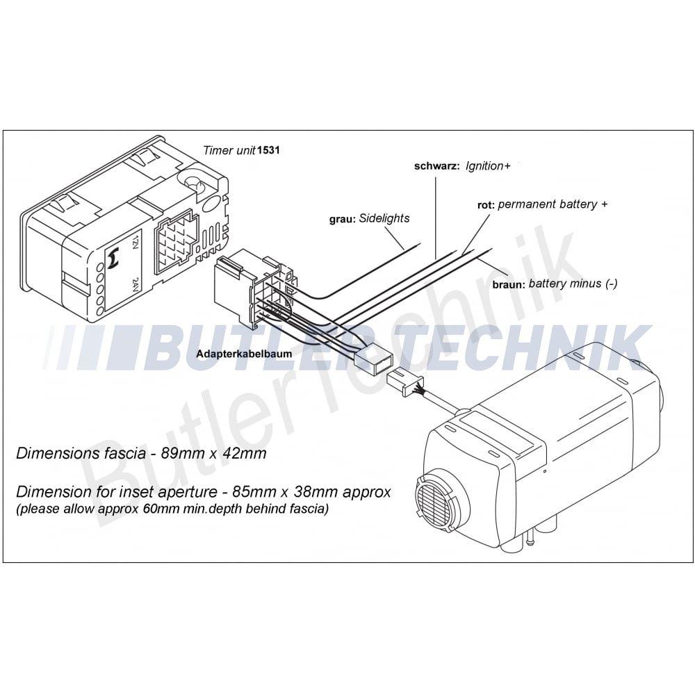 Webasto air top heater timer a