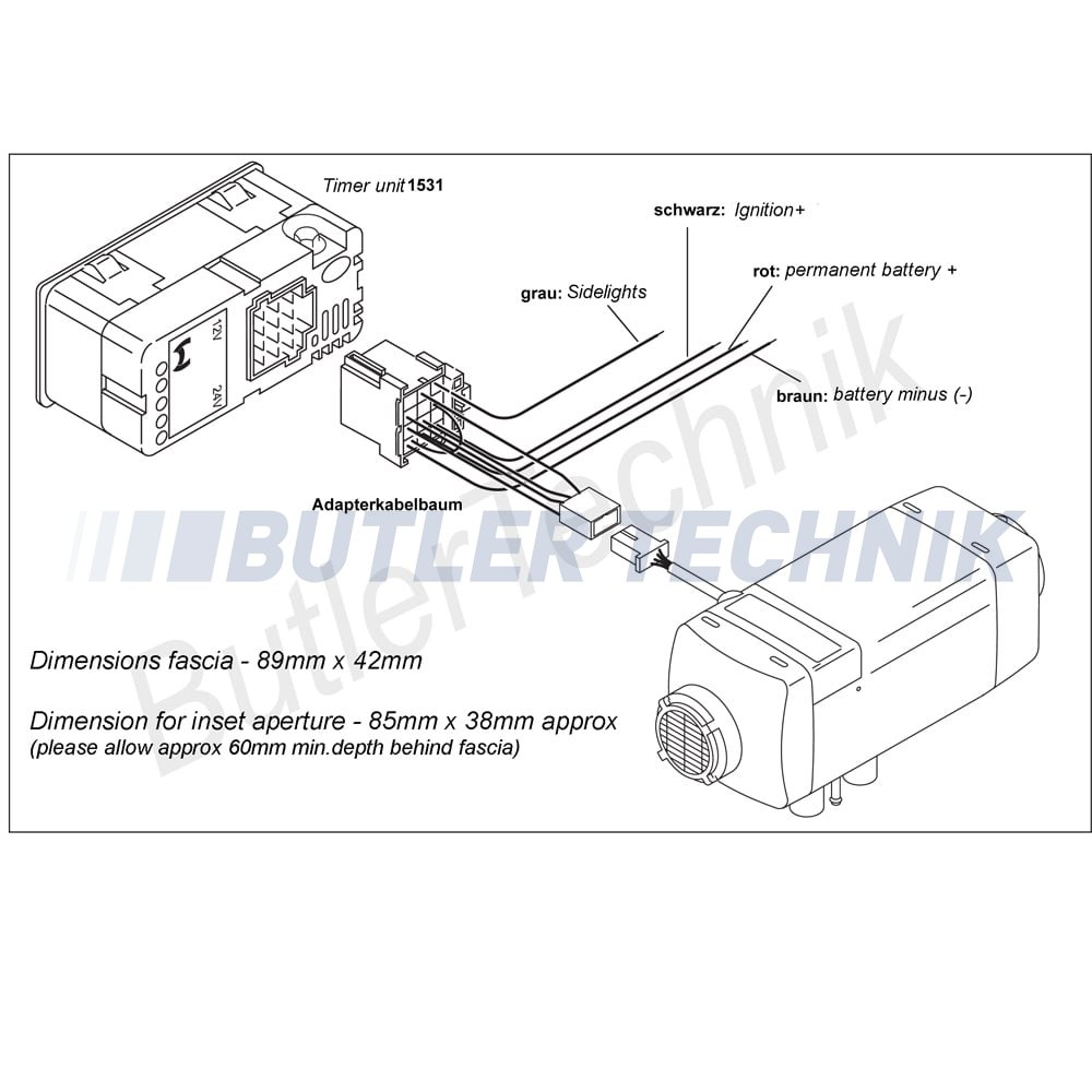 Webasto Heater Wiring Diagram 29 Images Rover 75 Air Top Timer Upgrade Kit 12v 41k031a P1521 3054 Image