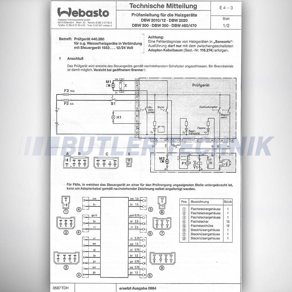 Webasto Dbw Water Heater Diagnostic Test Box Unit