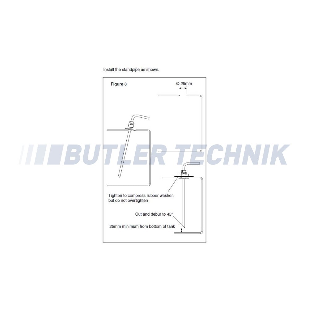Webasto Heater Fuel Tank Stand Pipe 650 X 5mm 1320399a 353205 Piping Diagram Twin Oil Tanks 650mm