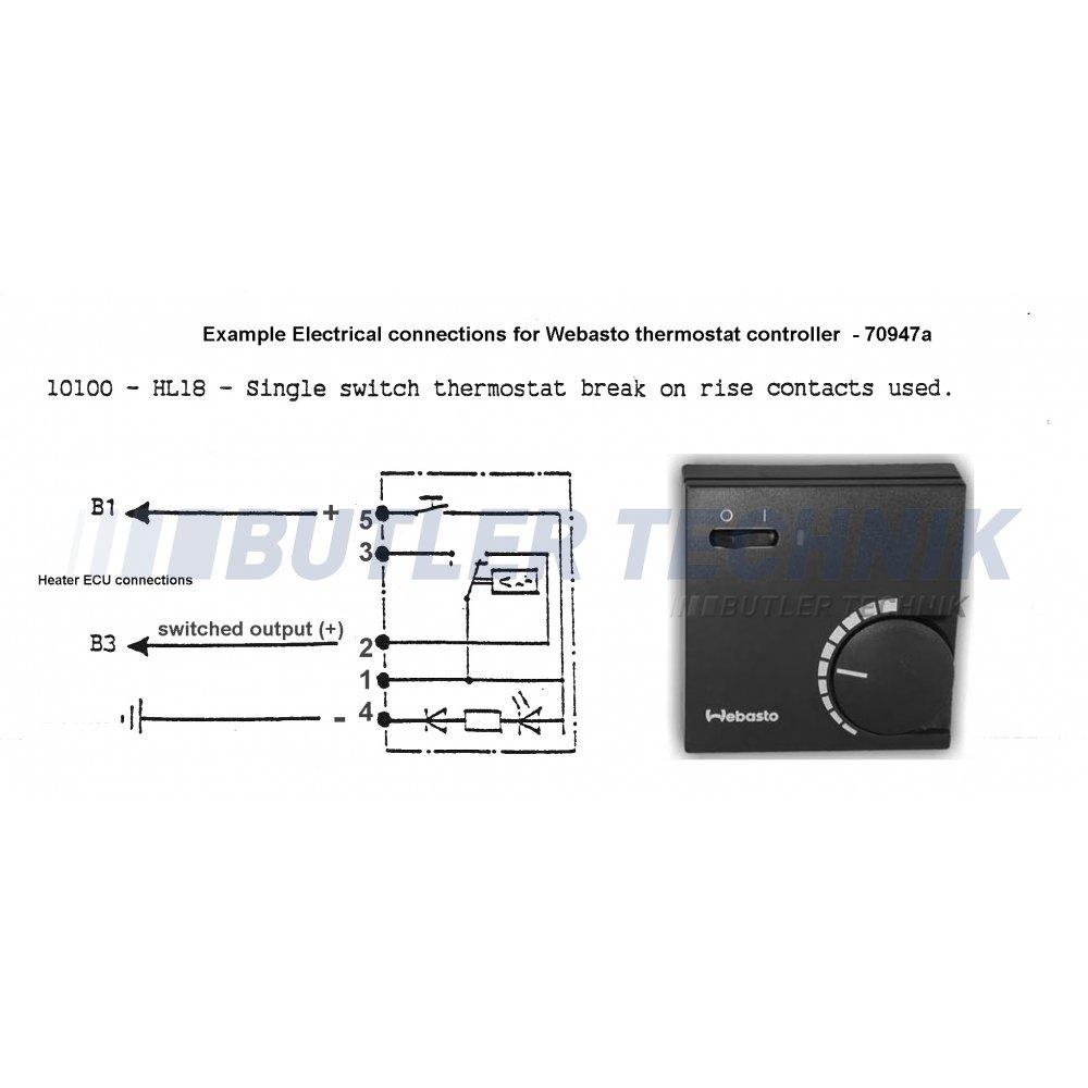 webasto heater thermostat for room temperature control