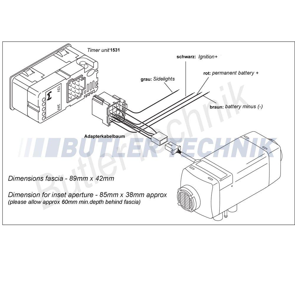 Webasto Heater Timer Upgrade Kit 12v 41k031a