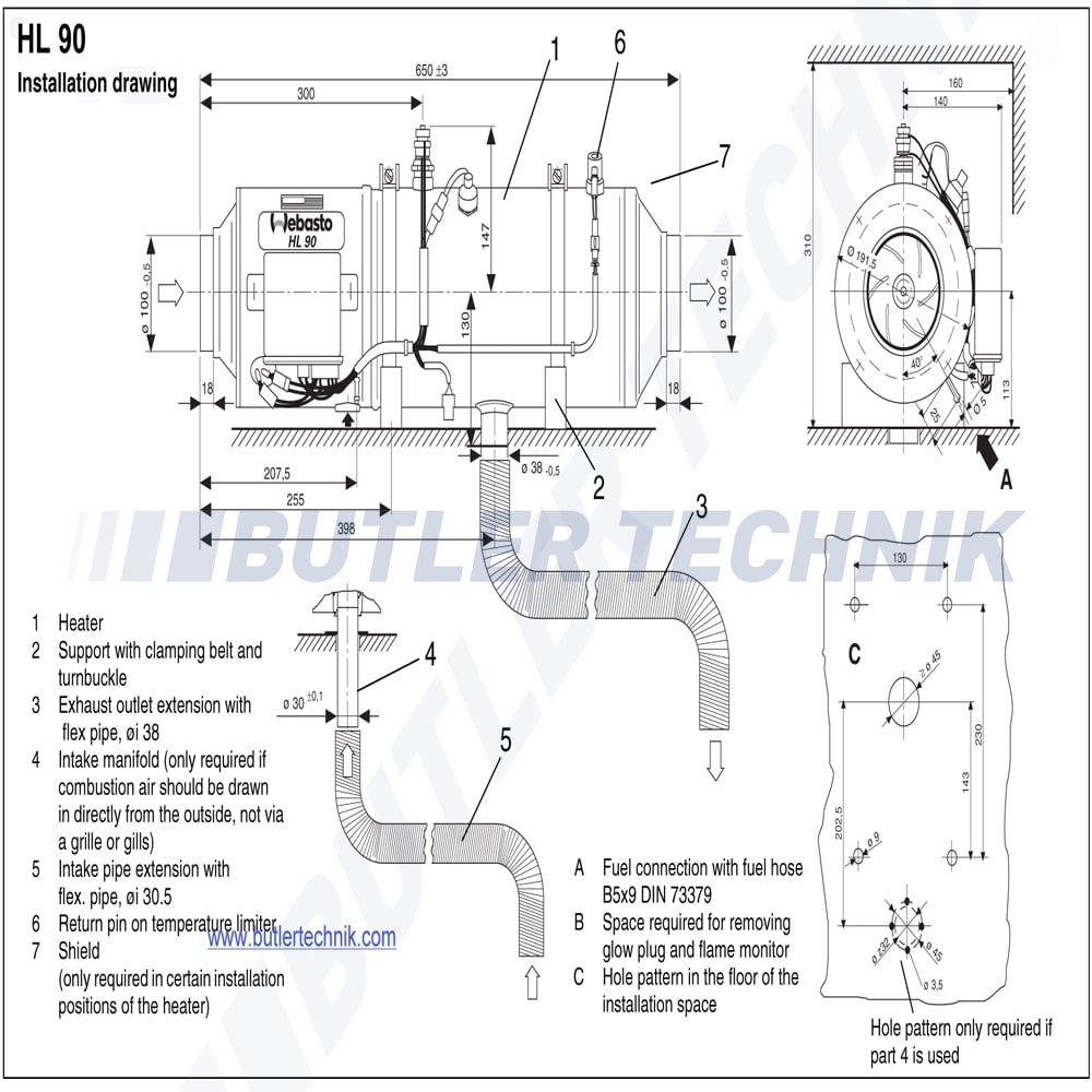 space heater wiring diagram webasto hl90 heater 24v 9 0kw air heater 38622a webasto hl90 heater 24v 9 0kw air