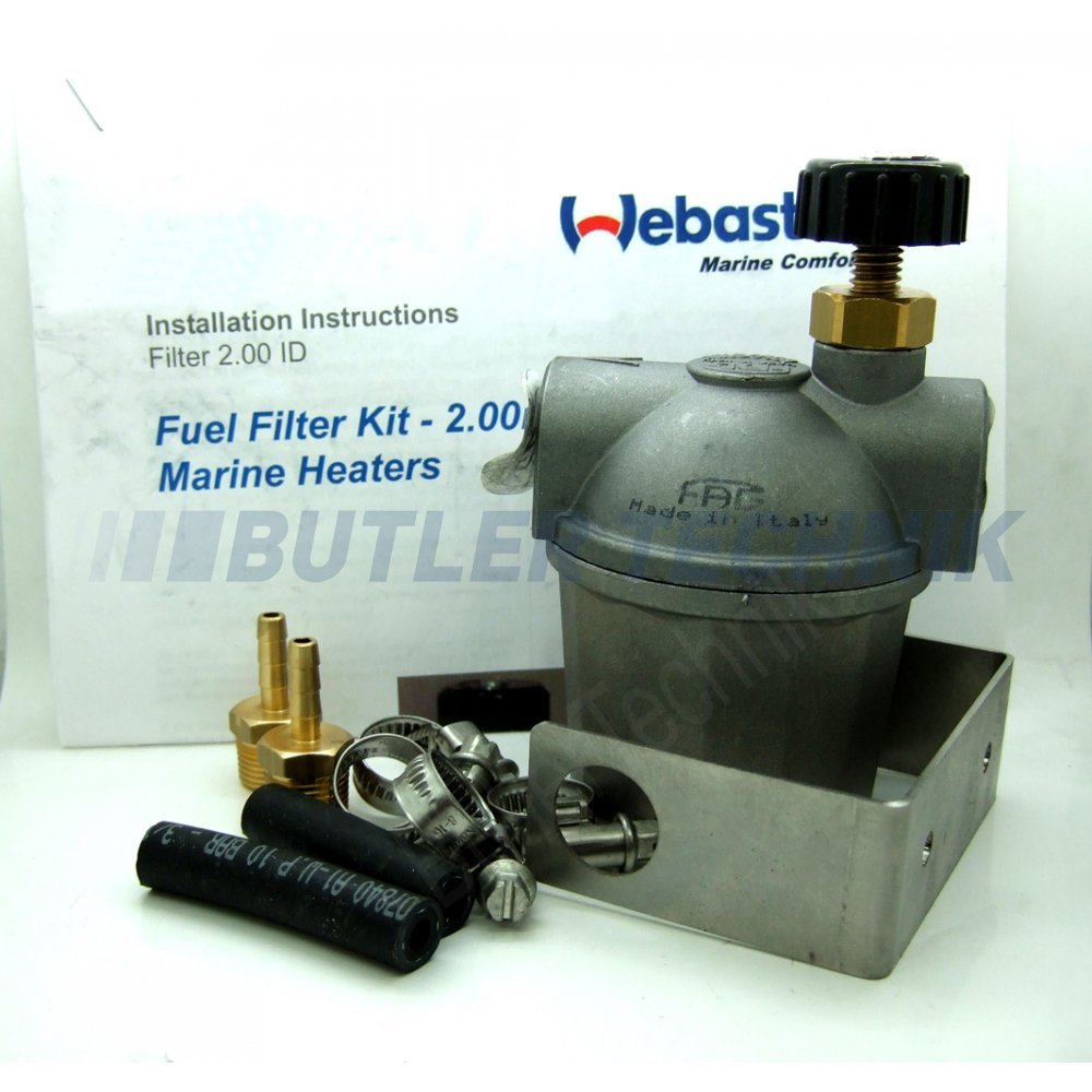 Fuel Line Accessories Boat Filters Webasto Marine Heater Filter With Tap Shut Off 4110766a