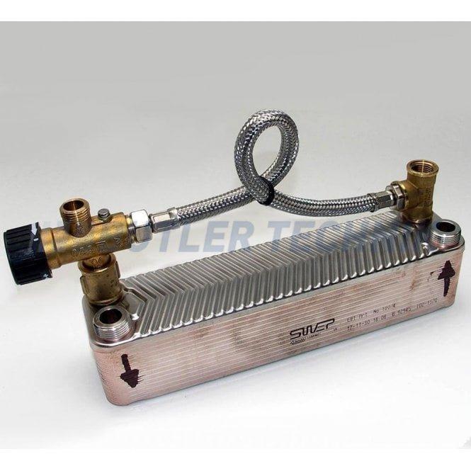 Webasto Webasto Motor Home Plate Heat Exchanger with Mixer Valve | 4111209A