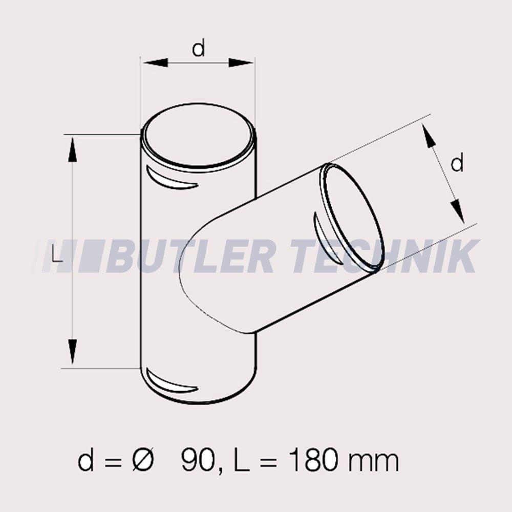 Heater Ducting Webasto Or Eberspacher Heater 90mm Ducting Y Branch 221000010021