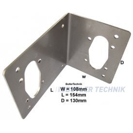 Eberspacher or Webasto mount plate for boats stainless steel
