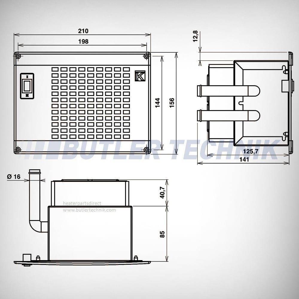 Eberspacher Water Heater Wiring Diagram : Webasto or eberspacher water heater exchanger matrix v