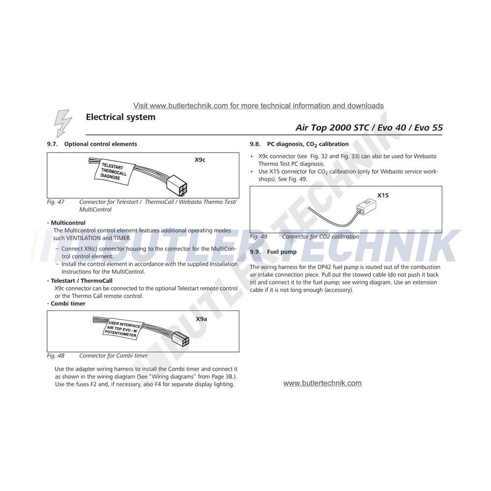 Webasto Water Heater Timer Marine Rv Multicontrol 9030911d