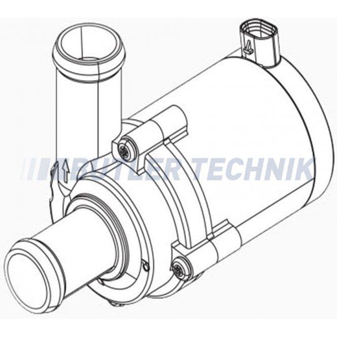 Webasto Water Pump U4847 Econ Axial